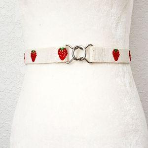 Vintage Retro Red Novelty Strawberry Stretch Belt